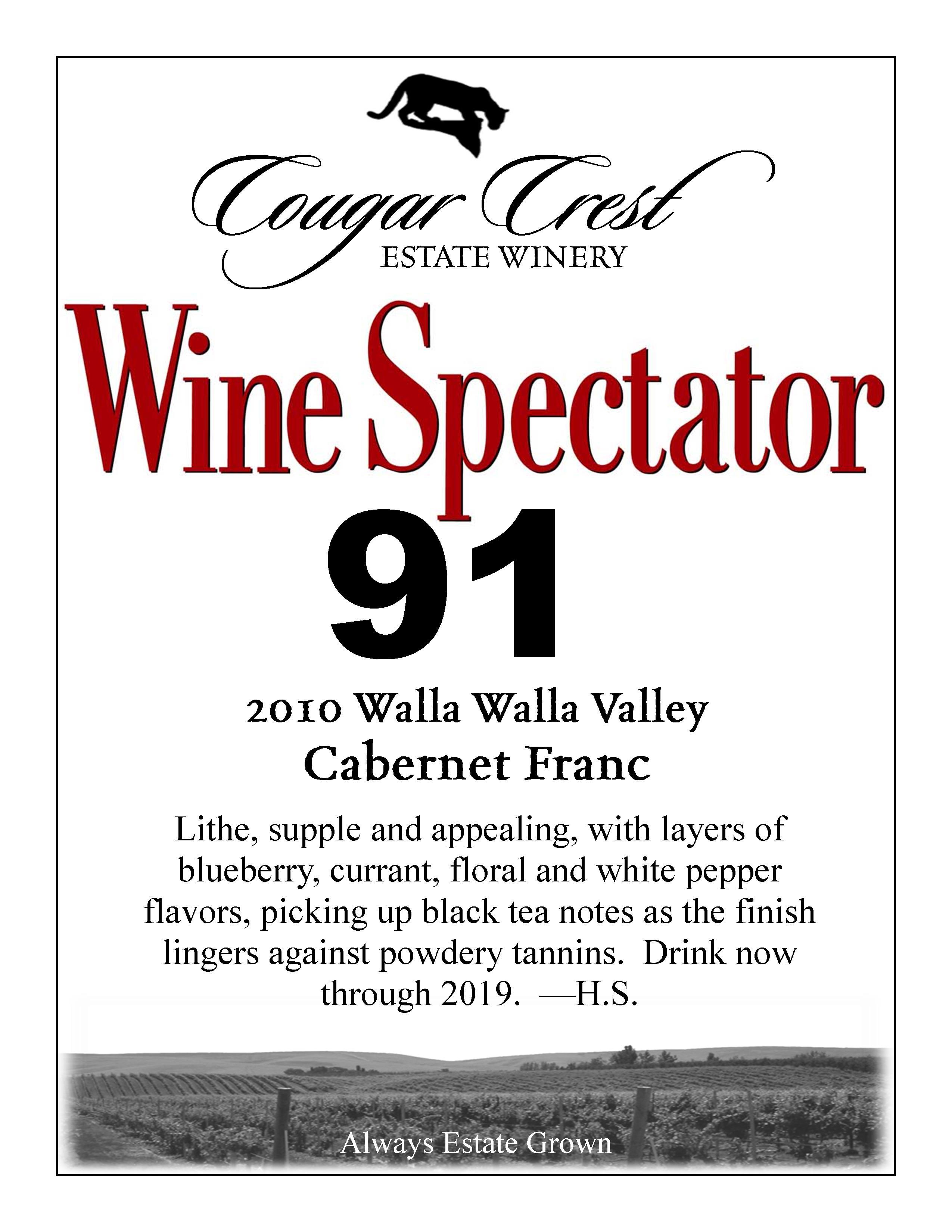 2010 Cab Franc Wine Spectator 1