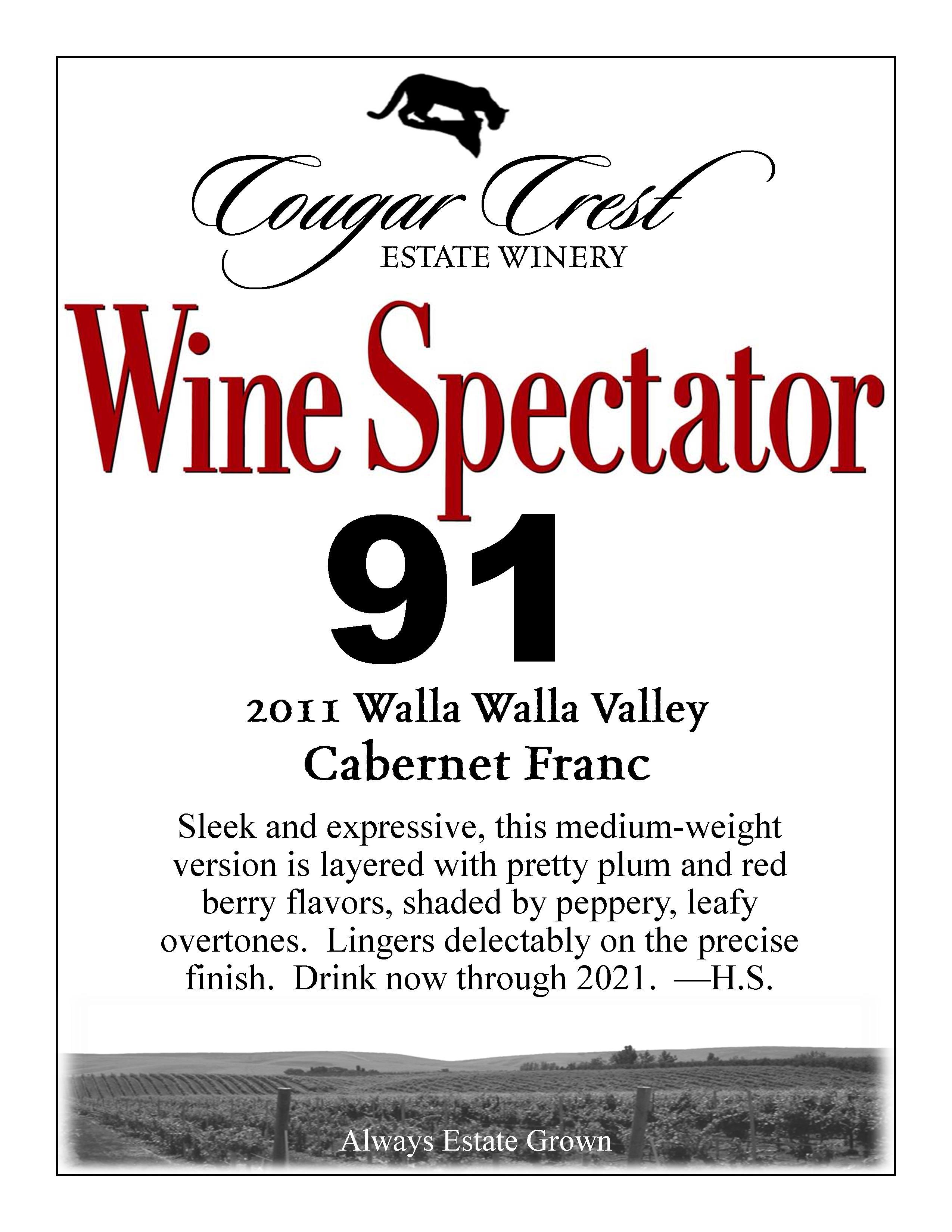 2011 Cab Franc Wine Spectator